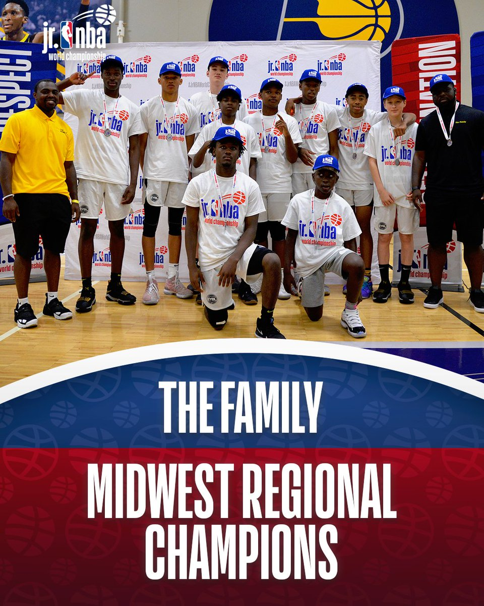 Representing the boys Midwest Regional... The Family! #JrNBAWorldChampionship 🏆