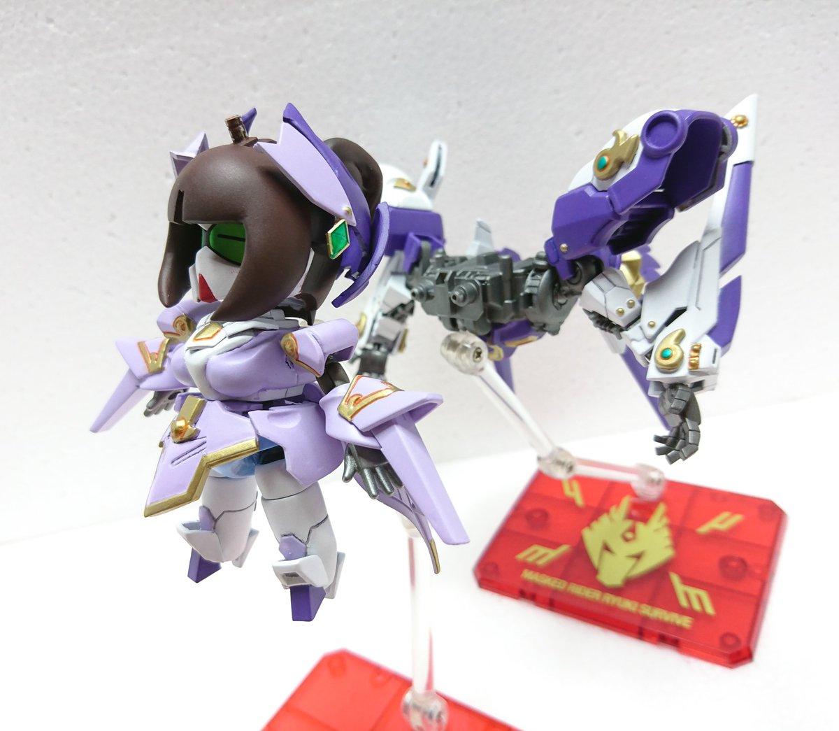 占術姫ティファ頑駄無が鳥獣鉄機ベルティゴと合体する事によって月光神姫ヌーヴェルティファにパワーアップ!アームユニットでの格闘戦や可変させビットを展開したオールレンジ攻撃が可能になる。