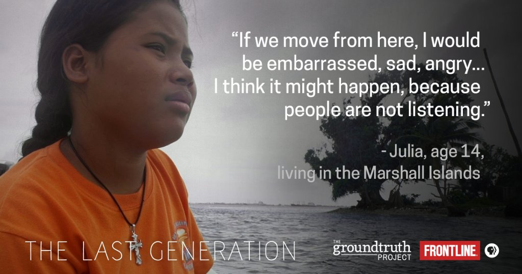 See climate change through the eyes of three children whose homeland is threatened by rising seas in 'The Last Generation' — an interactive documentary. https://t.co/HTVhzVa7DN