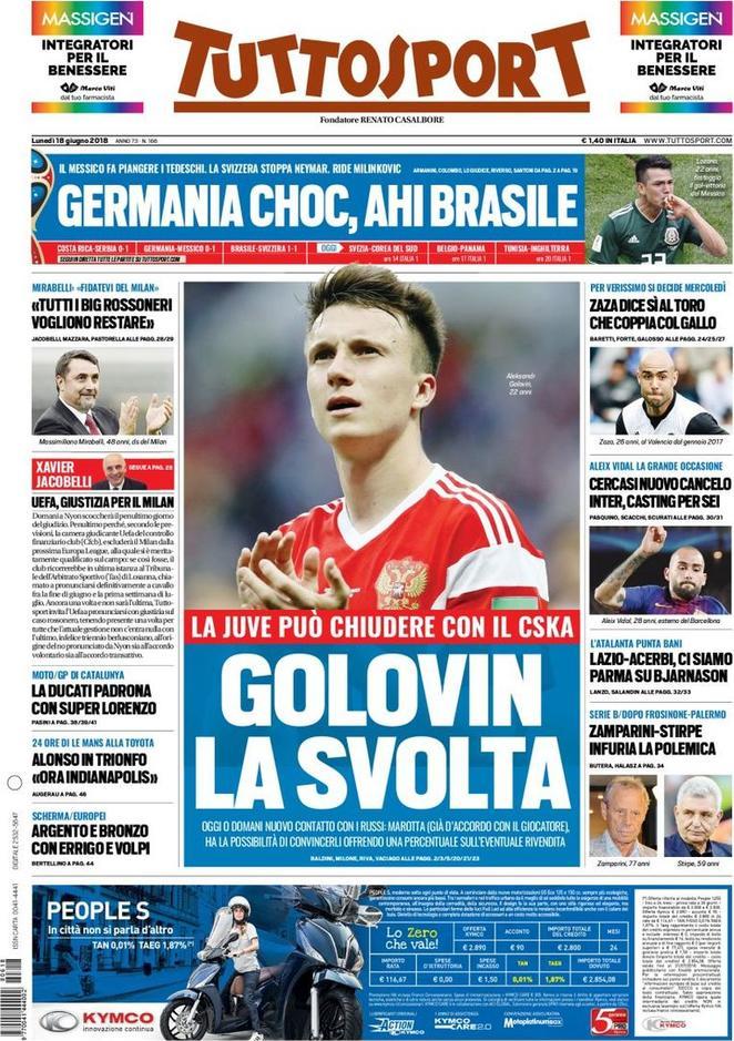 #RassegnaStampa - La prima pagina di 'Tuttosport' in edicola domani mattina https://t.co/CF6g51jGPY