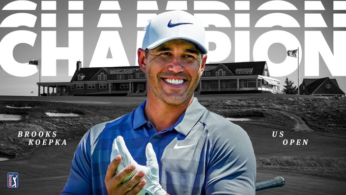 A Open champion once again. @BKoepka is the first player to successfully defend the #USOpen title since 1988-89. #LiveUnderPar Photo