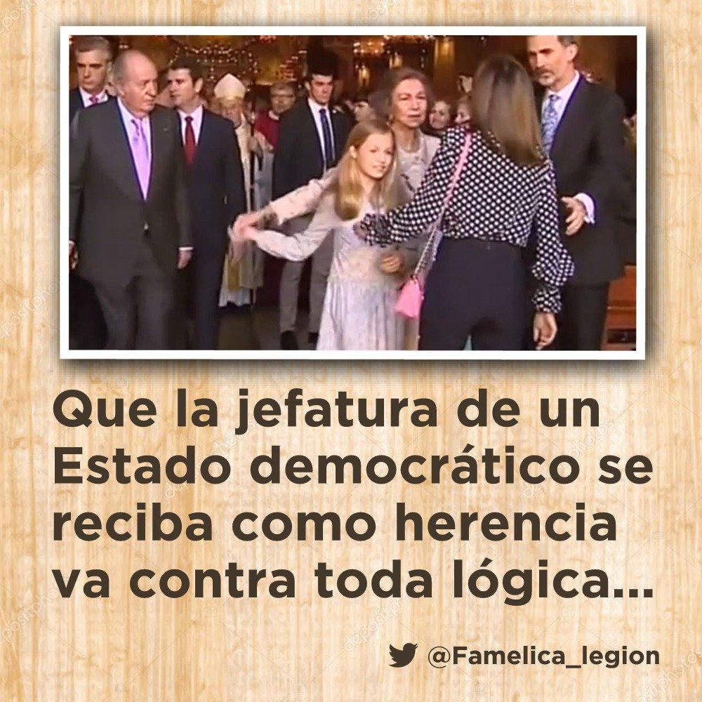 Que la jefatura de un Estado democrático se reciba como herencia va contra toda lógica... #ObjetivoUrdangarin
