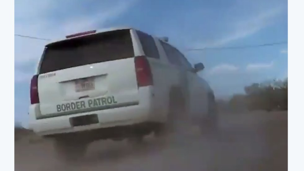 Video shows border patrol car hitting Native American man and driving away https://t.co/fmpGNyNHC6 https://t.co/otegYwBEcD