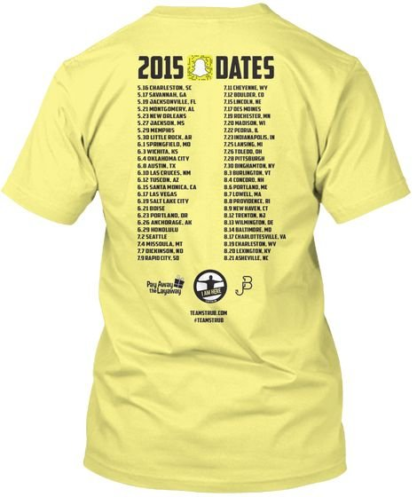 During @50States100Days adventure, I worked with my graphic designer, @jingles_24, to constantly let followers know where I&#39;d be next. And my t-shirt had the entire itinerary on the back. You can get a @TeamStrub t-shirt here:  https:// buff.ly/2ISu007  &nbsp;    #ContentWritingChat <br>http://pic.twitter.com/emVZNkBBai