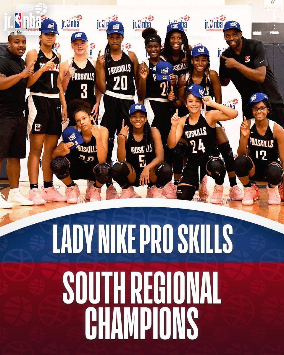 Champs of the South Regional... Lady Nike Pro Skills! #JrNBAWorldChampionship 🏆