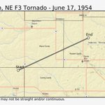 Image for the Tweet beginning: Time for #Tornado #History! #OTD
