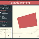 Image for the Tweet beginning: Tornado Warning including Yuma County,