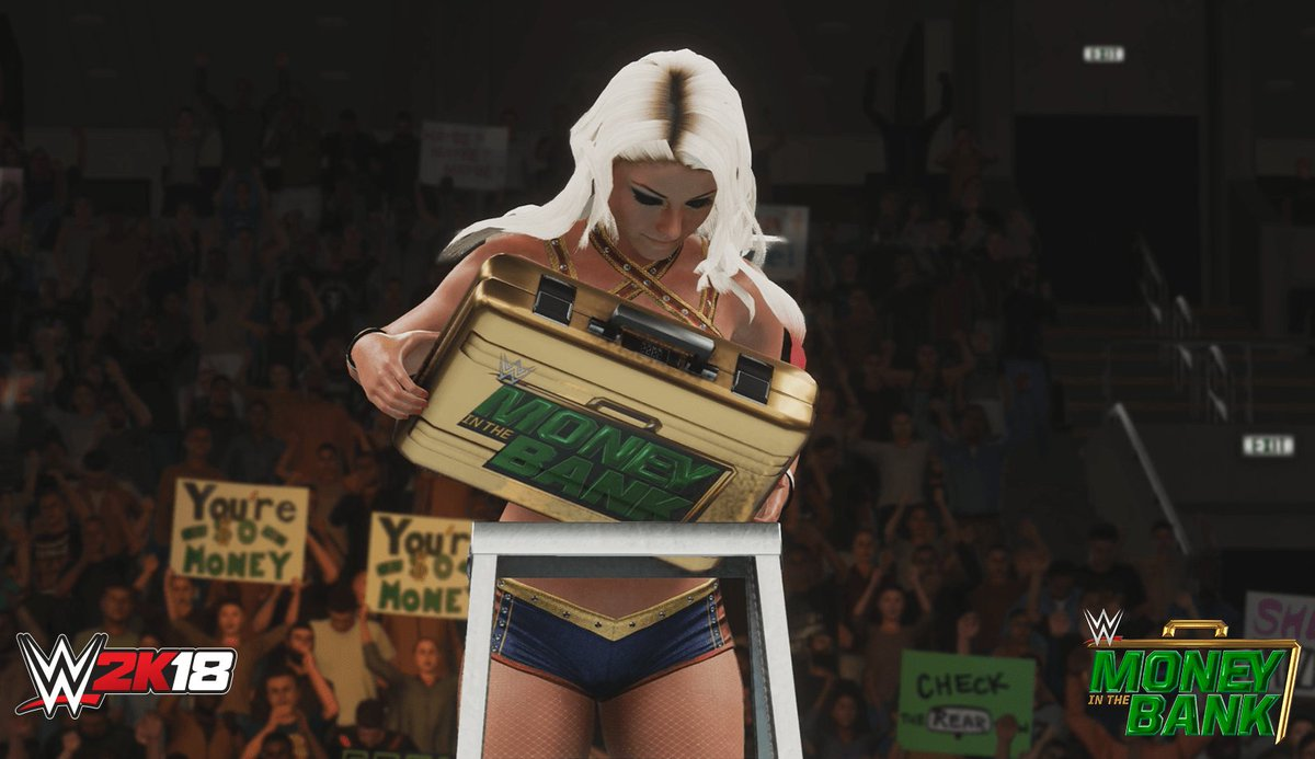 Congrats to @AlexaBliss_WWE for grabbing the #MITB briefcase! #WWE2K18