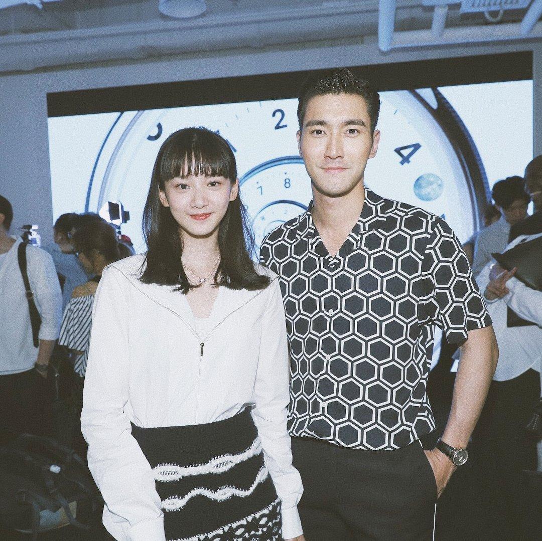 "180614- angela.yuen IG update with Siwon: ""Beautiful people at #letempschanel Wearing #chanelboyfriend(watch) ⌚️"""