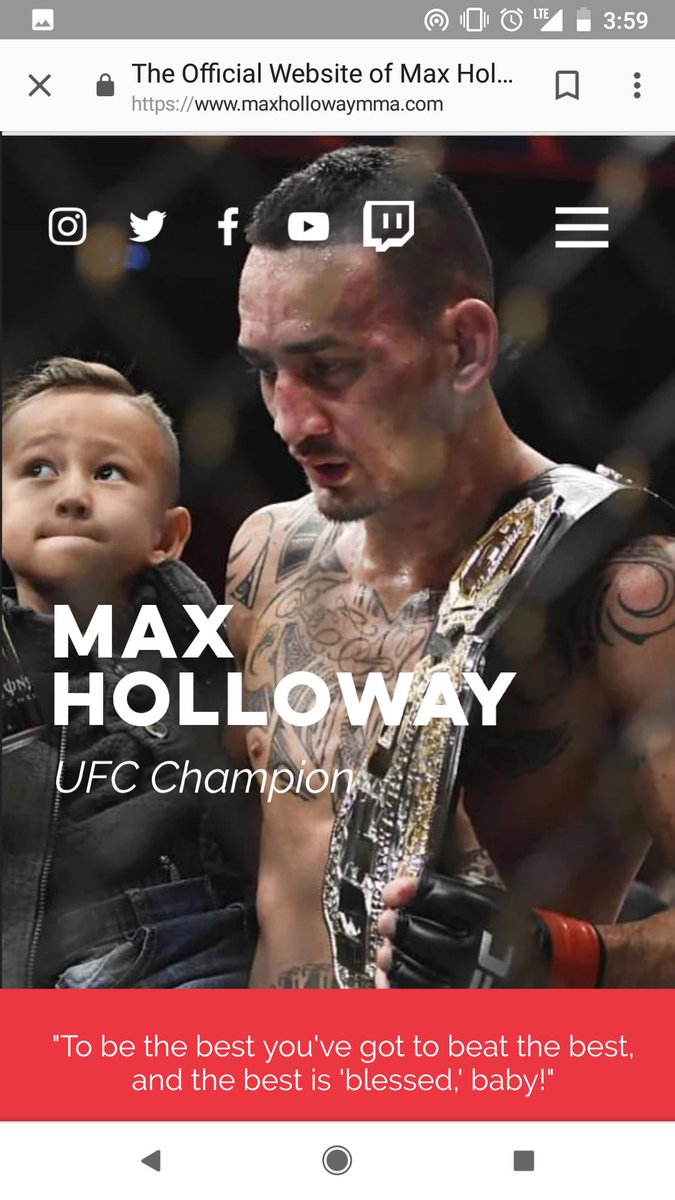 New website up maxhollowaymma.com . Join team blessed and subscribe to be the first to know about exclusive merch, upcoming fights, and when Im in your city!
