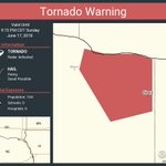 Image for the Tweet beginning: Tornado Warning continues for Obert