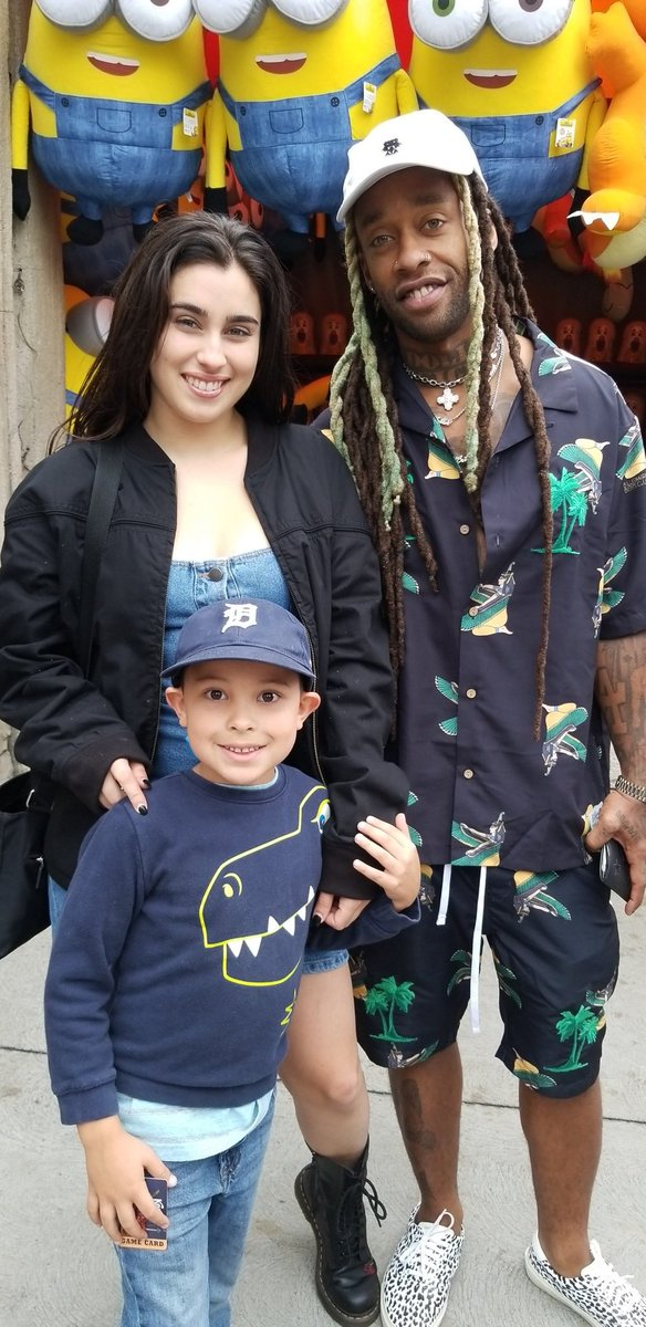 Y'all.... this kid of mine makes friends wherever he goes 😂 (Lauren jauregui and ty dolla $)