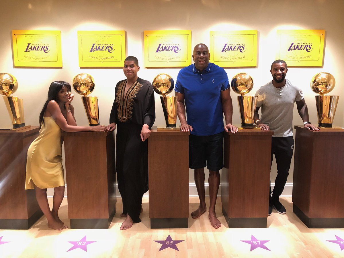 Ending Fathers day on top! In my trophy room with Elisa, EJ and Andre. Love my kids!