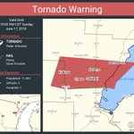 Image for the Tweet beginning: Tornado Warning continues for Krakow