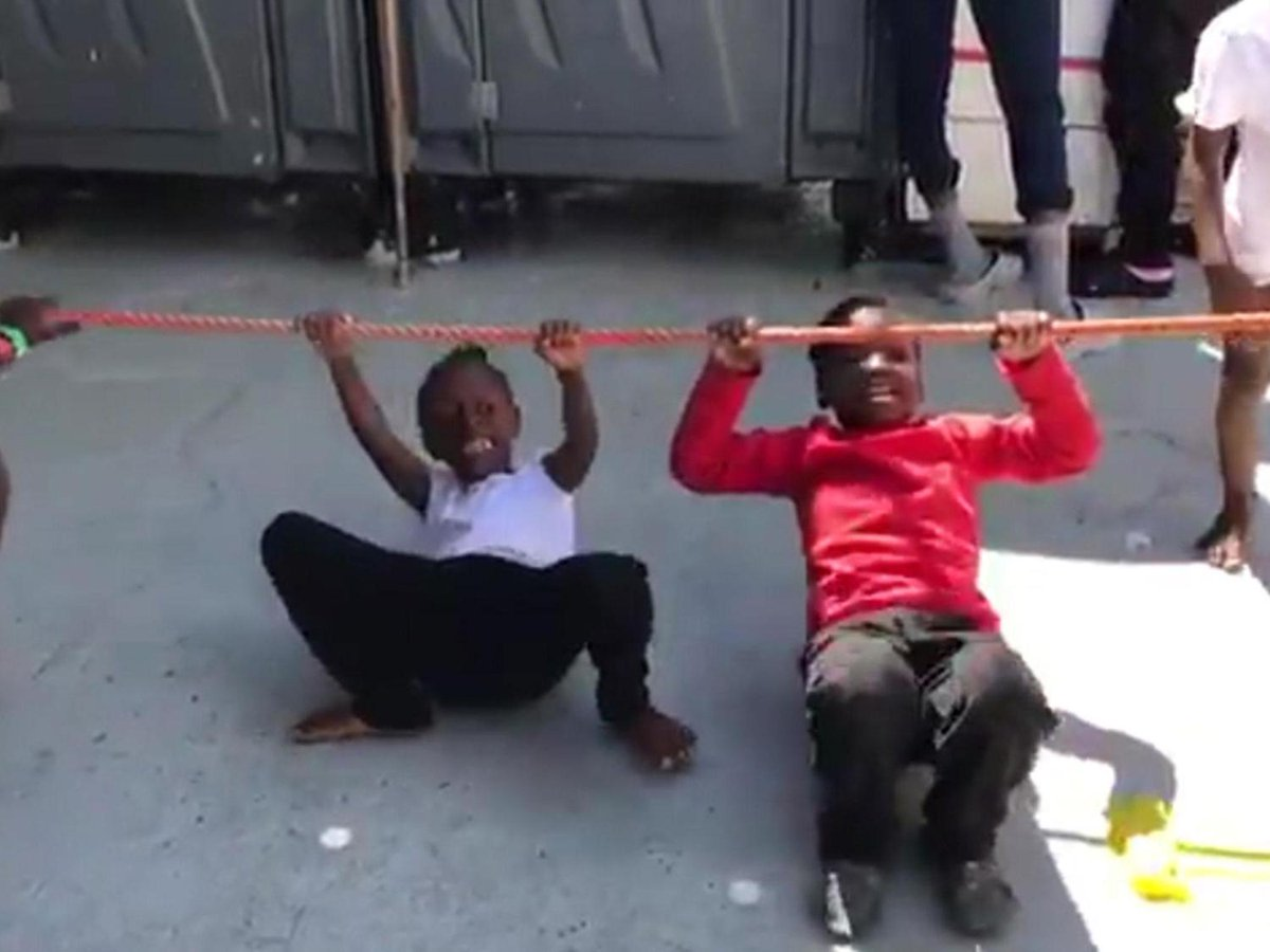 Heartwarming video shows children laugh and play after being rescued from Mediterranean https://t.co/kzbOMzo8BZ