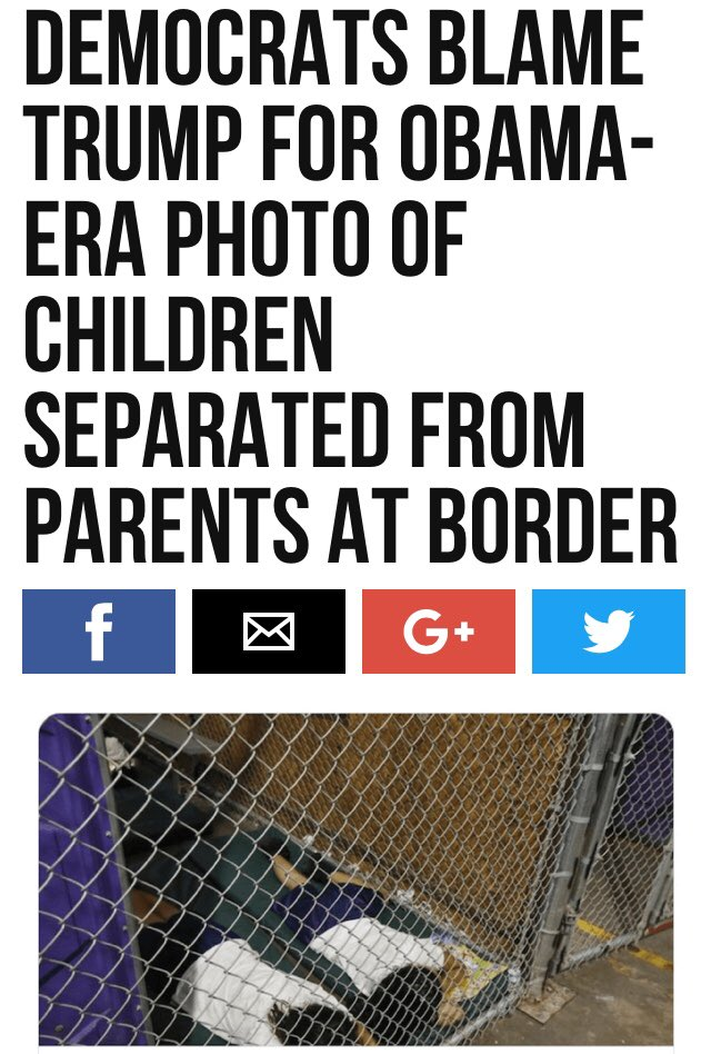 Obama Also Separated Illegal Children From Their Illegal Parents    EXCEPT That Obama Actually Did Keep The Children In CAGES  #BuildTheWall  https://t.co/T1De8ECuVN