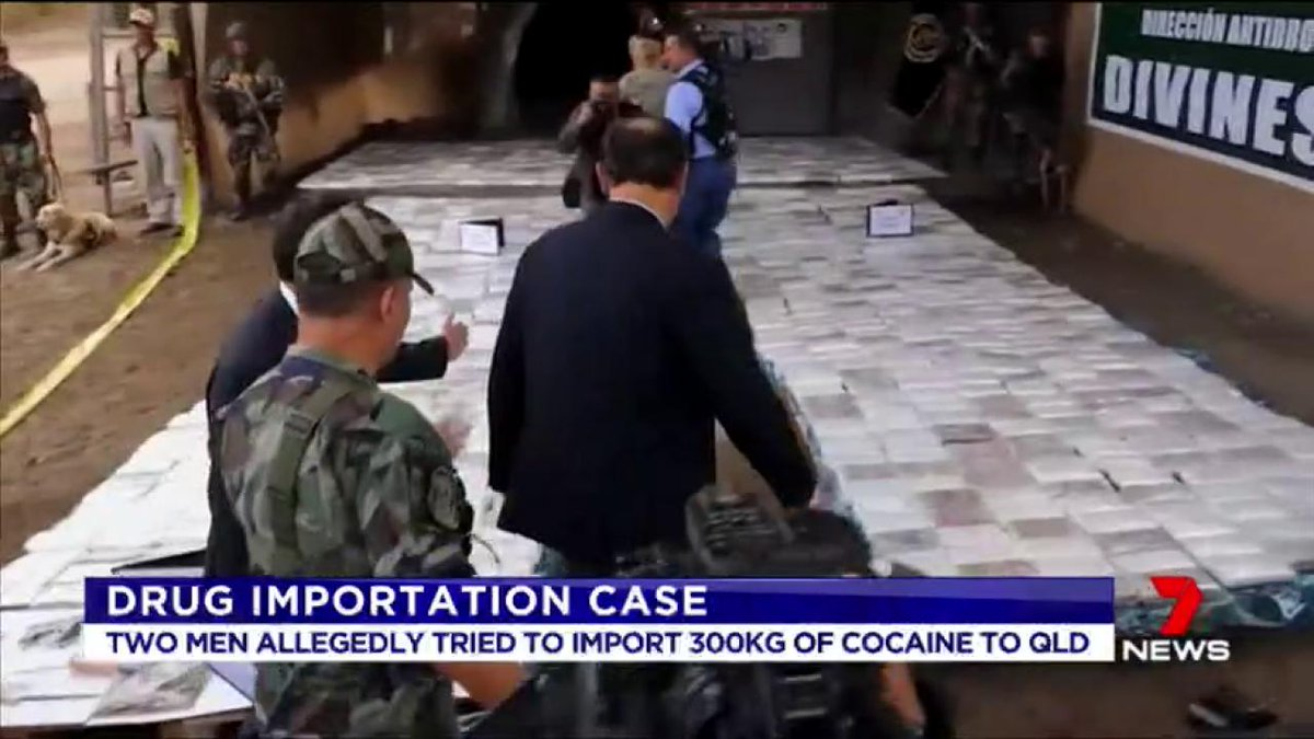 Two Sydney men accused of conspiring to import 300 kg of cocaine from Peru have faced court in Brisbane. https://t.co/Y8XaZHyZe5 #7News