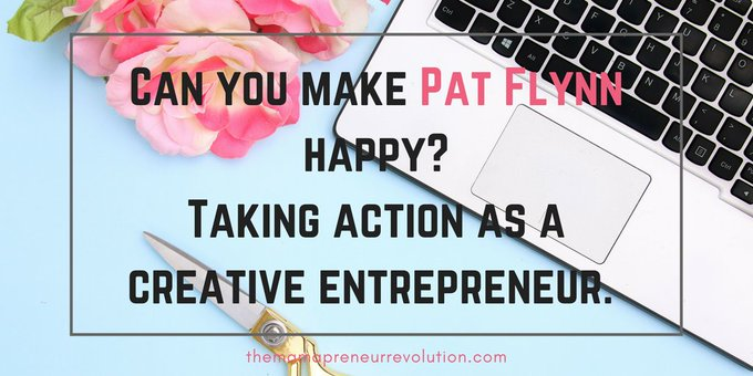 Can you make Pat Flynn Happy? Taking action as a creative entrepreneur #pblogger Photo