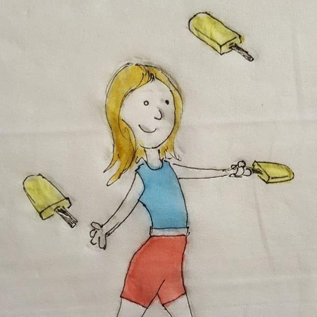 Popsicle juggling #school #lunch #napkinArt #summer #circus #juggling #popsicle https://t.co/4Lpr8QNErs https://t.co/VBunqd7U73