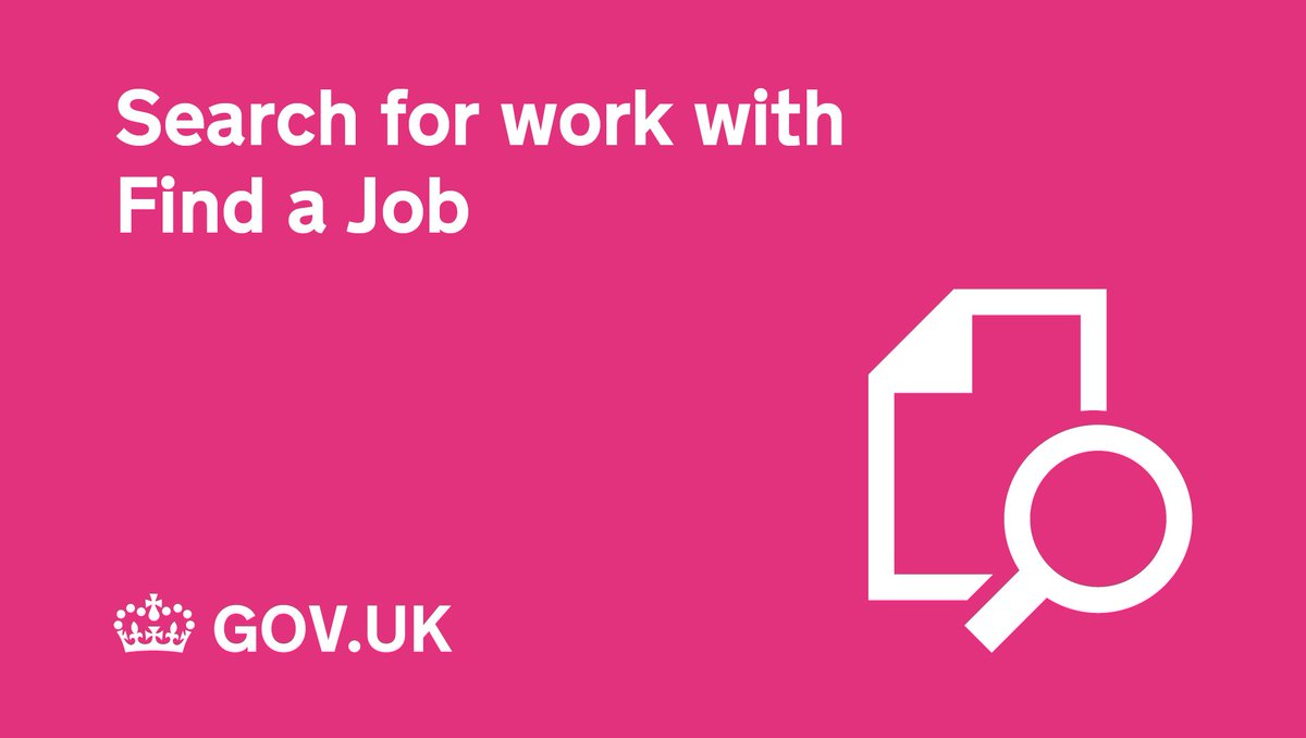 Use the Find a Job service to apply for full or part-time jobs:  https://findajob.dwp.gov.uk/ pic.twitter.com/TVdd46iYRY