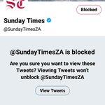 #BlockSundayTimes Twitter Photo