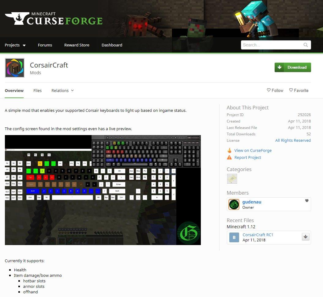 Curseforge Dashboard