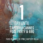 1 day to go! #CaptifyatCannes #CannesLions #canneslions2018 #Cannes