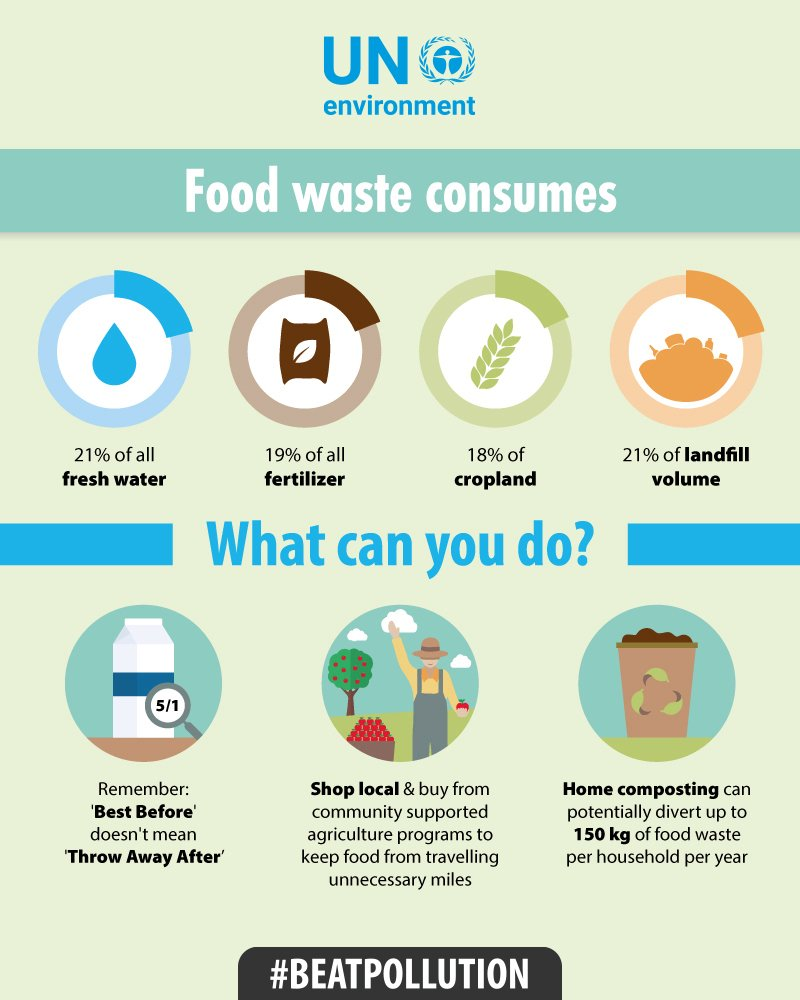 Happy Sustainable Gastronomy Day!  Here are some tips on how you can #BeatPollution by fighting food waste.