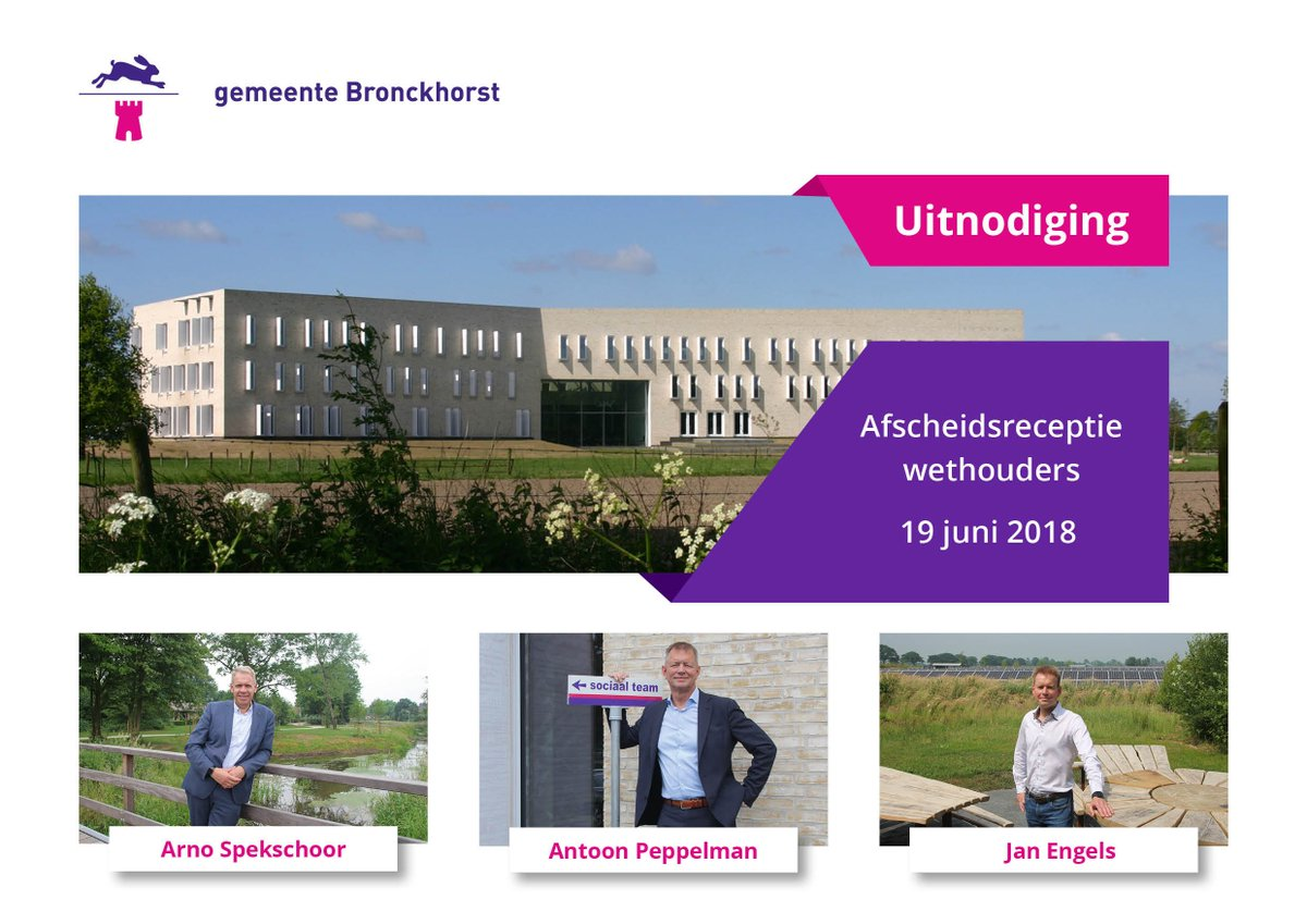 Gemeente Bronckhorst على تويتر Oud Wethouders Arno