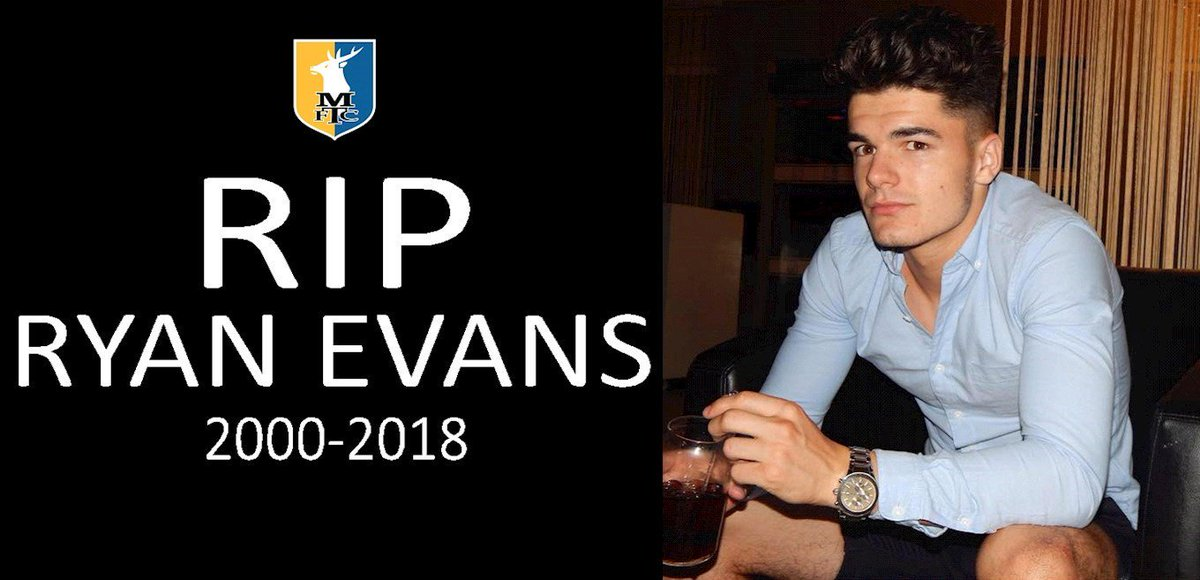 Our thoughts and prayers are with the family and friends of 18-year-old Ryan Evans, whose funeral is today. Rest in peace, Ryan. 💛💙