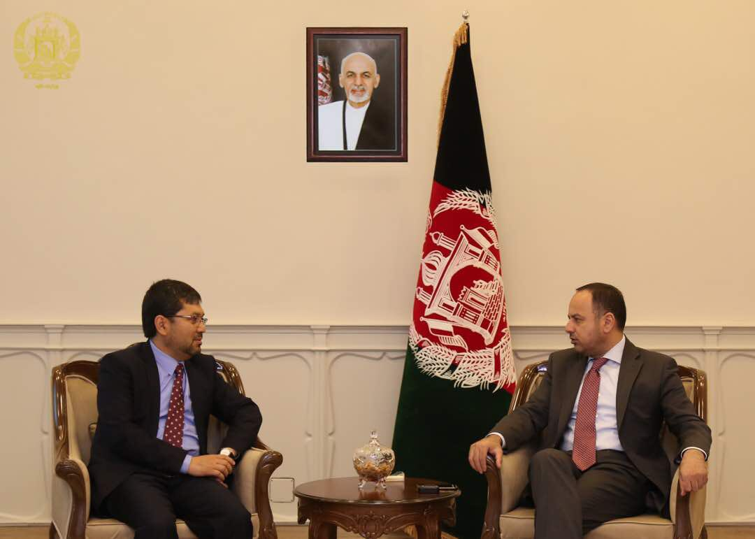 Today, I met with the Governor of Bamyan to discuss implementation of development projects in the province.