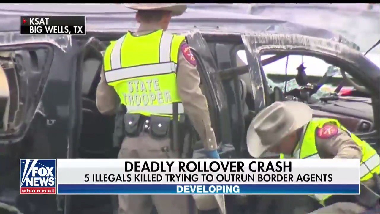 At least 5 dead after SUV carrying illegal immigrants crashes, sheriff says https://t.co/FDh7ws31L0 https://t.co/mf1x9X1bUm