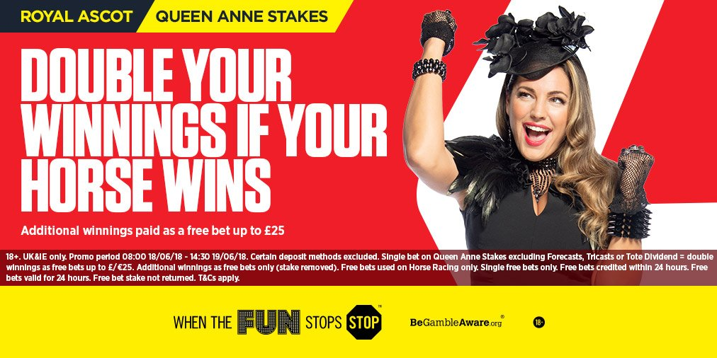 Feeling lucky for the Queen Anne Stakes?  Back the winner and we'll DOUBLE your winnings 💰  👉 https://t.co/kKIYK1unLh