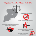 As an organization or company do you know your obligation to your employees in regard to the Tobacco Control Act.