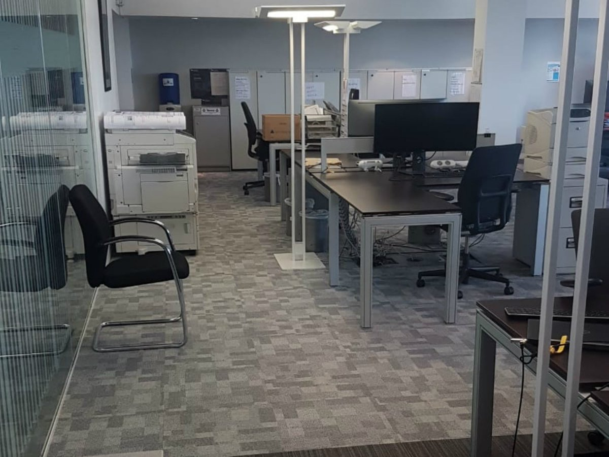 Creative commercial interiors completed the upgrade of brewindolphin office in belfast the works included feature lighting flooring decorating