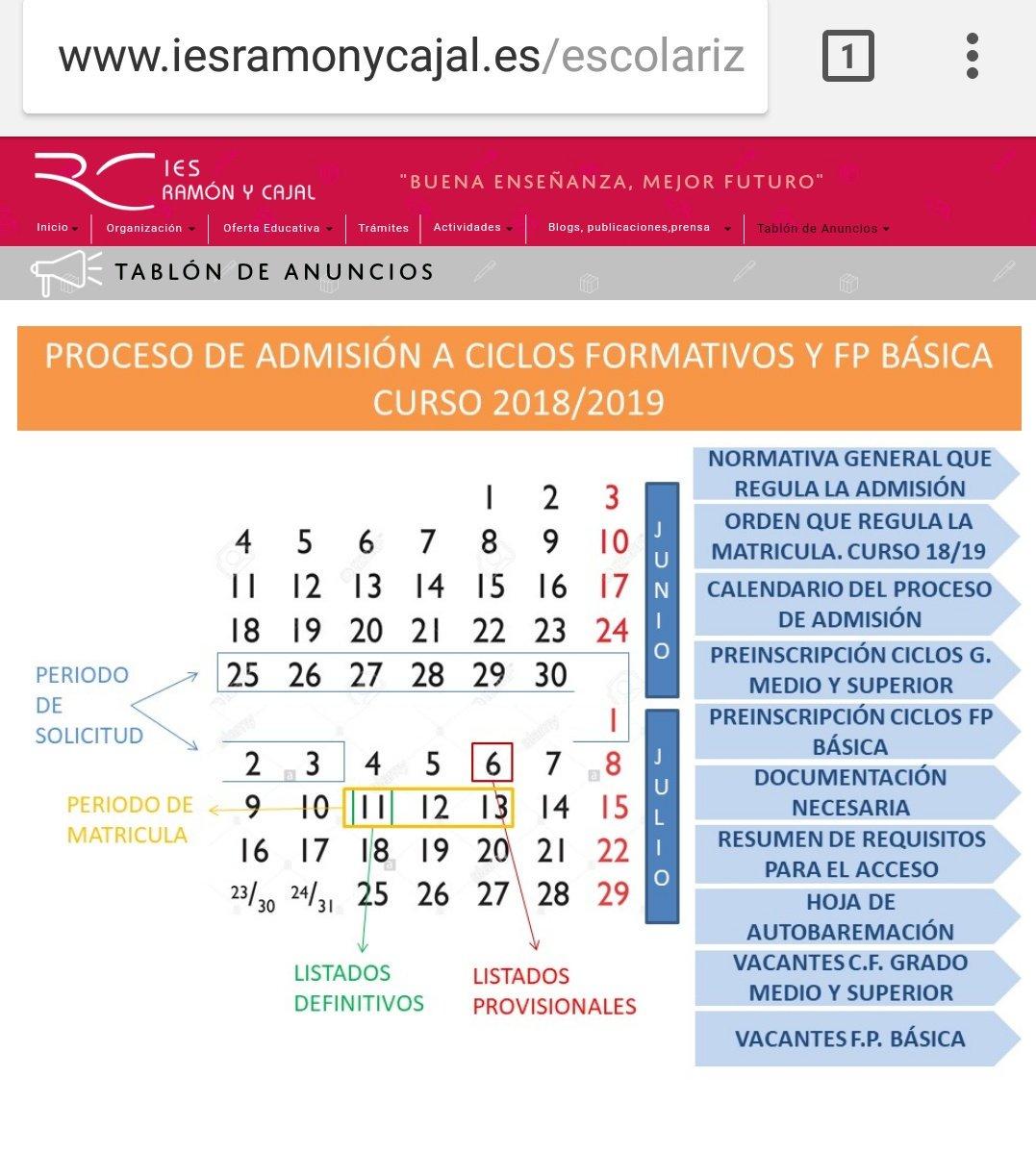 Ies Ramon Y Cajal Va On Twitter Ya Podéis Consultar La