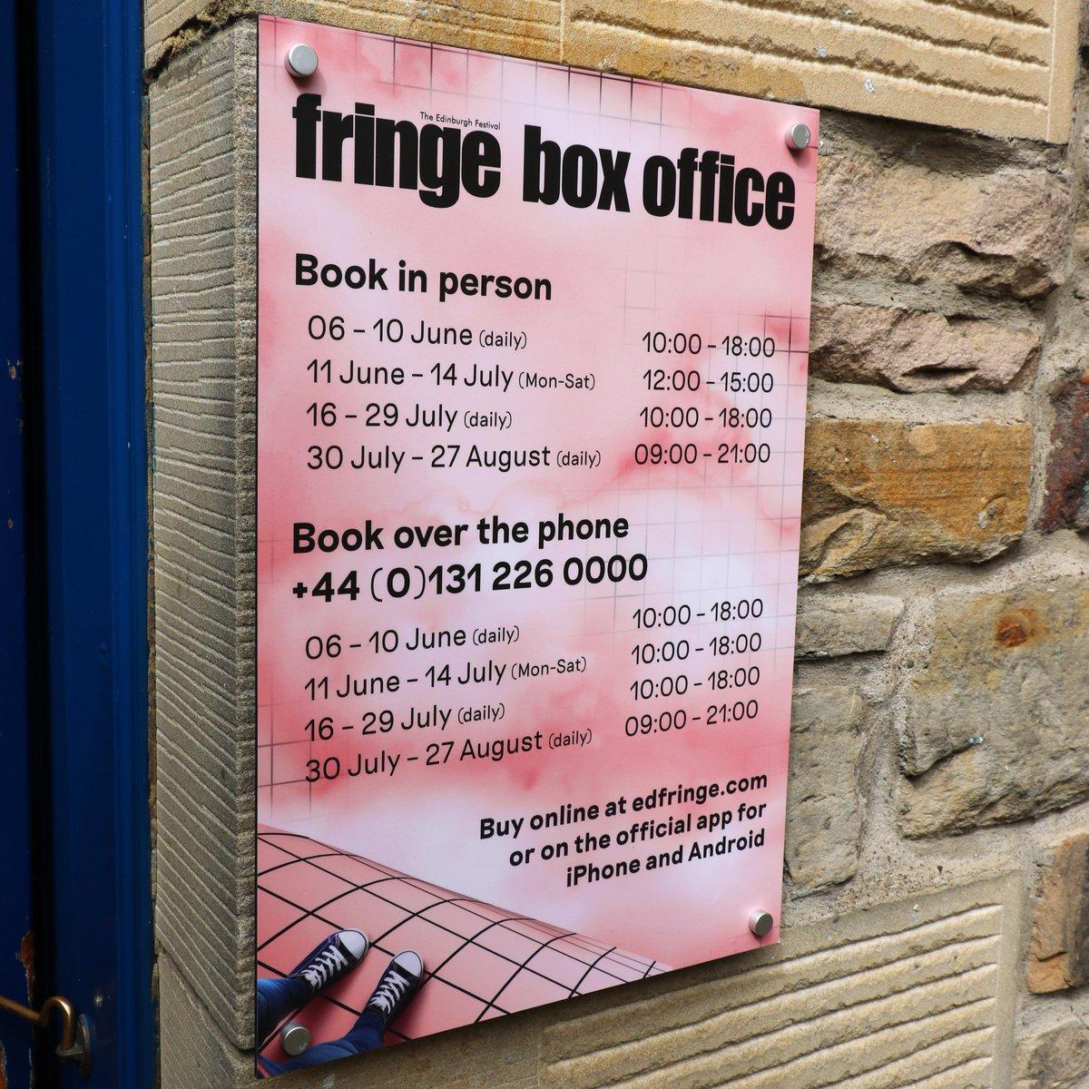 edinburgh fringe festival box office. Edinburgh Festival Fringe On Twitter: \ Box Office N