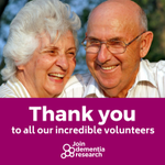 It's #VolunteersWeek, and we want to say a massive thank you to everyone who has signed up with Join Dementia Research as a volunteer! You're powering the research that's vital to beat #dementia If you're not registered yet, find out how you can help at https://t.co/9dreFlFtsL