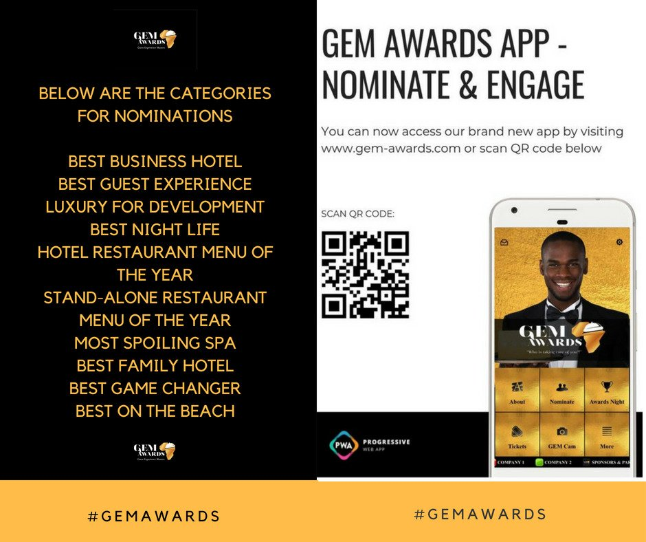 #GEMAwards To nominate your favorite restaurant, hotel, spa,club,lounge and apartment. Scan the bar code and nominate. https://t.co/C5AS7G4MXQ