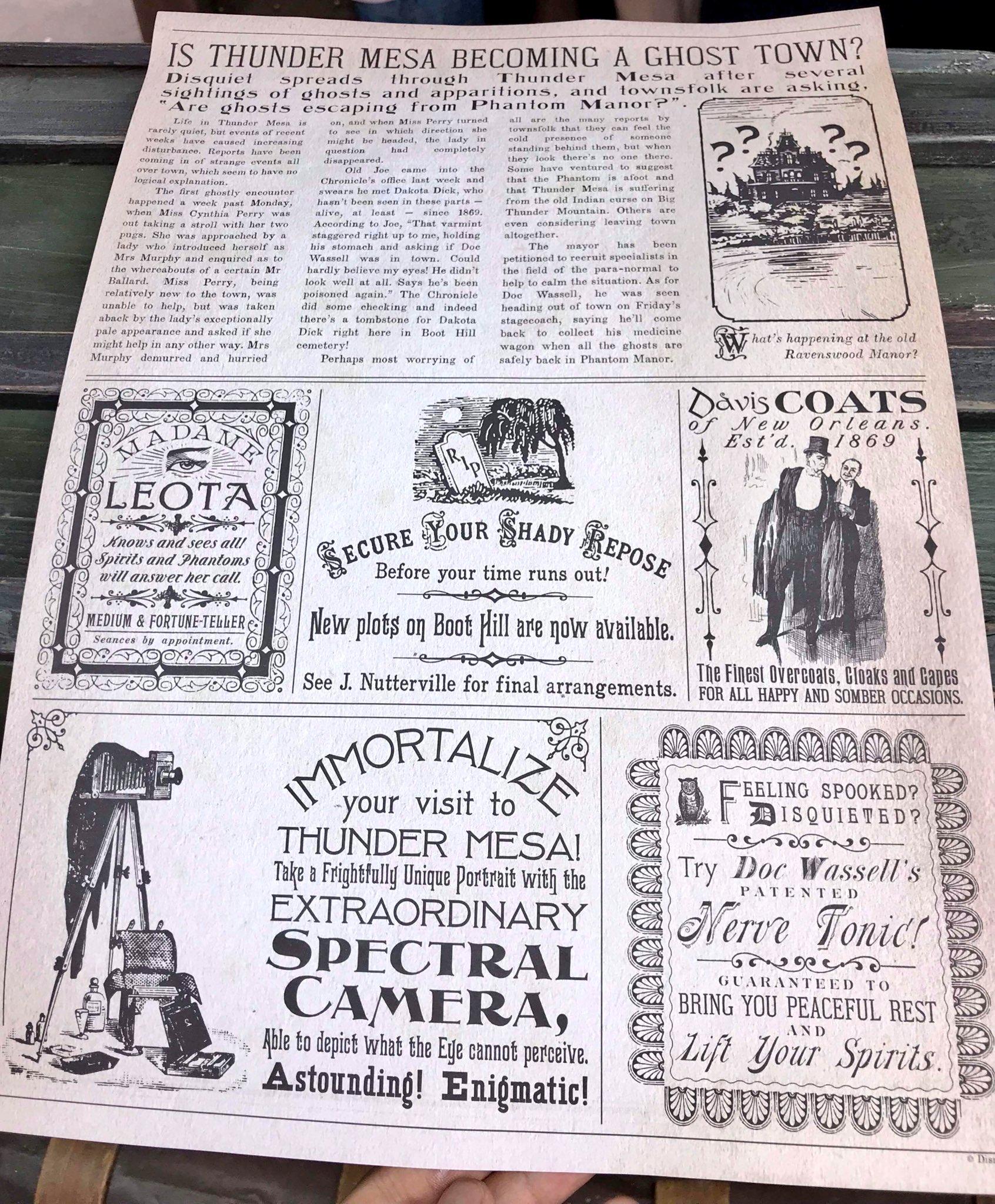 [PhotoPass] Arrivée du Magic Shot avec les personnages de Phantom Manor à Frontierland - Page 4 DfARDmPWkAEo7Kx