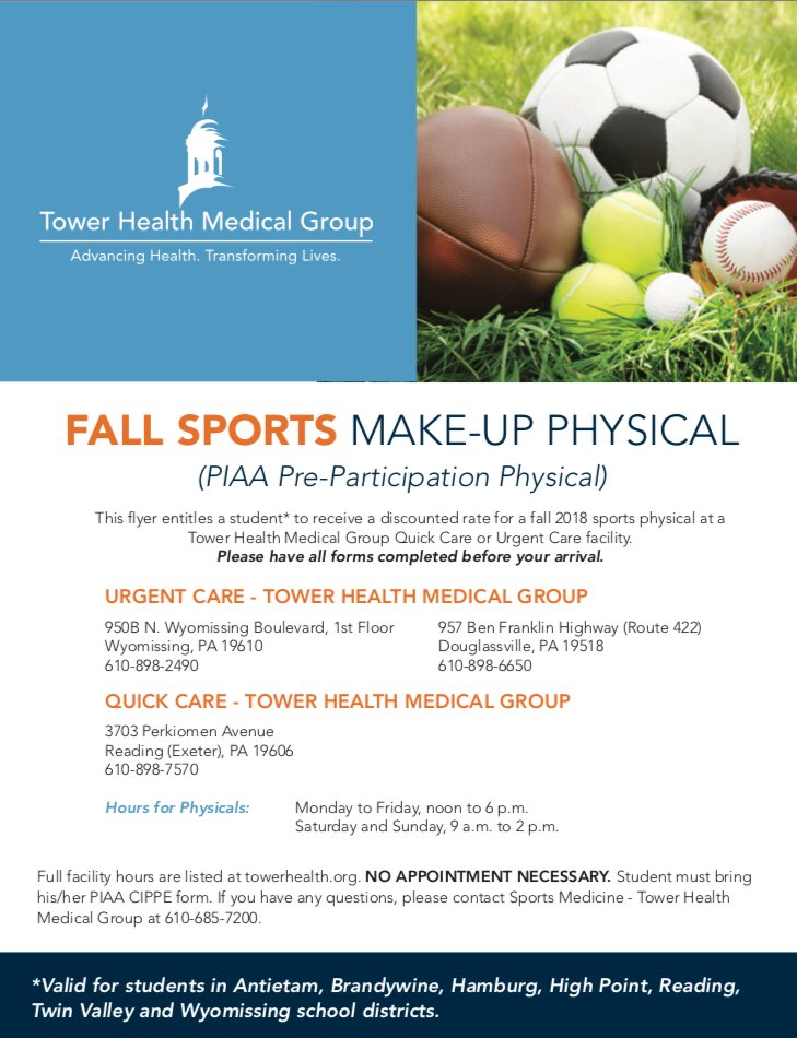 "sports physical form pennsylvania  Athletic Dept. on Twitter: ""If you need to get a sports ..."