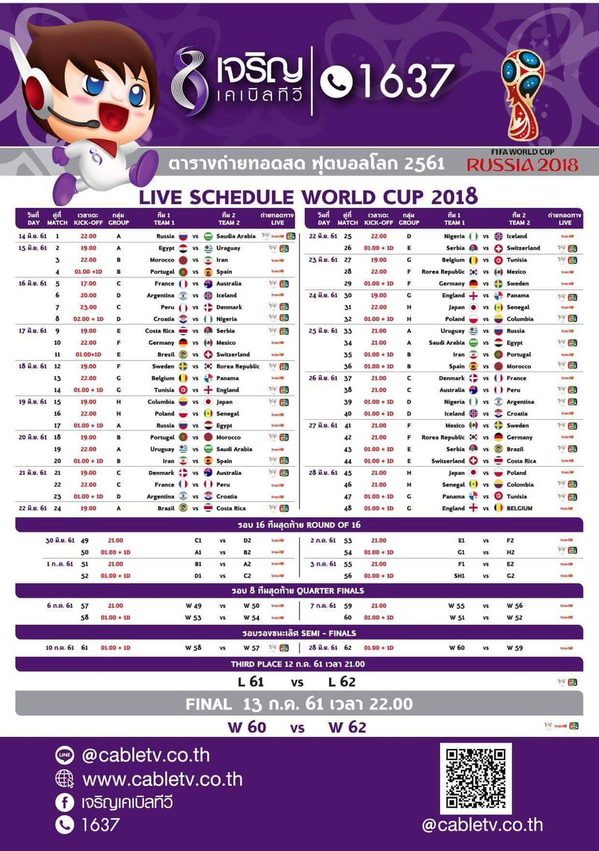 "BISS KEY TV On Twitter ""Jadwal Live Piala Dunia 2018 Di"