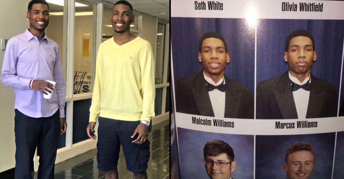 Twin stands in for his brother on high school picture day. ladbible.com/community/vira…