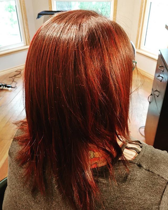 Satori Hair Studio On Twitter We Popped In Some Red With This Dark