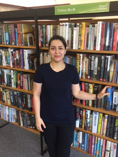 """Tanaz has recently started volunteering in Standish library to help improve her English and to meet new people """"I love the library because it's busy with lots going on. I enjoy helping and have made friendships with the staff."""" #NationalVolunteerWeek  http:// bit.ly/2Lue6Ge  &nbsp;  <br>http://pic.twitter.com/F2J7Z0LJUX"""