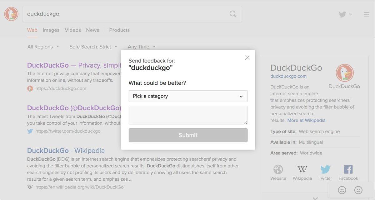 DuckDuckGo on Twitter: