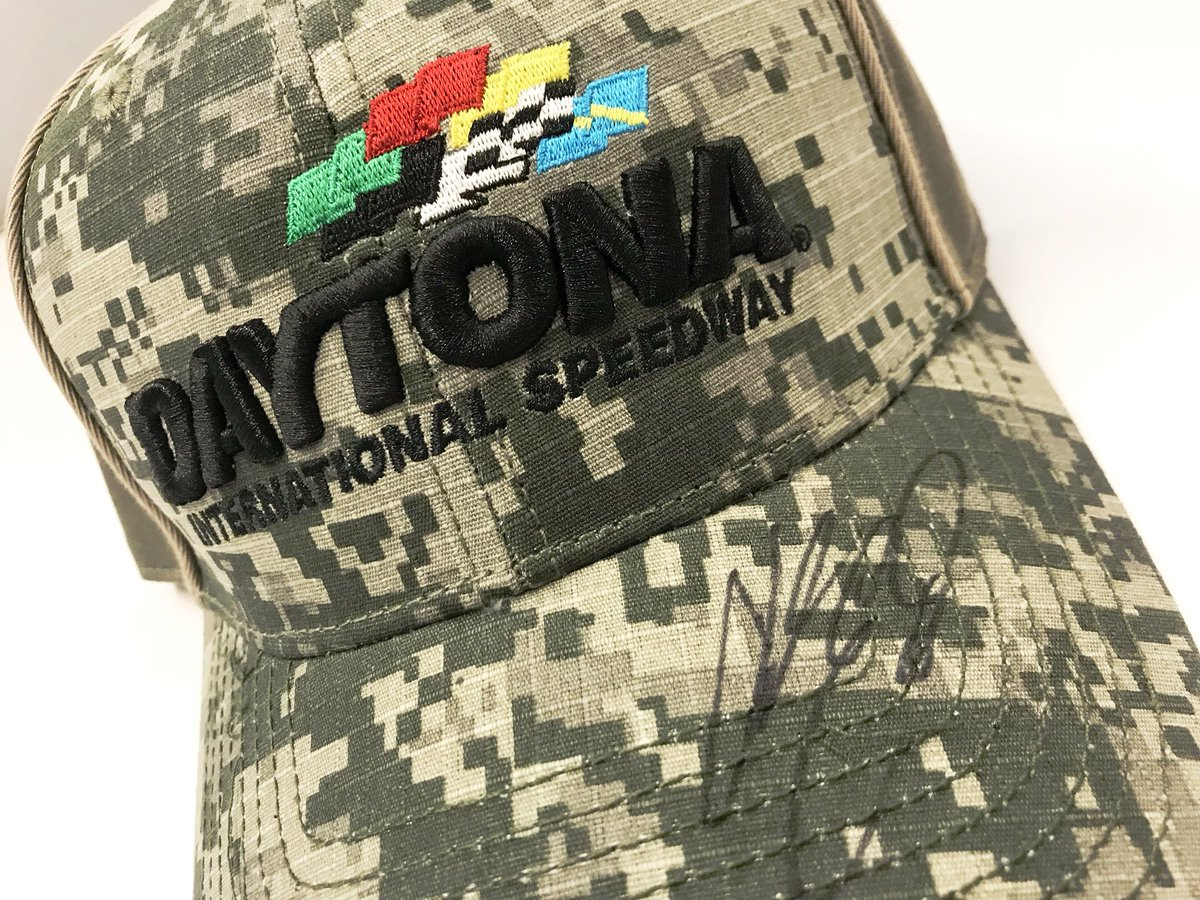 We've had a great day with @chaseelliott! We can't wait for the July race at DAYTONA! 🇺🇸  RETWEET for your chance to win this hat autographed by Chase! We'll pick a winner tomorrow at 6:00 pm ET!