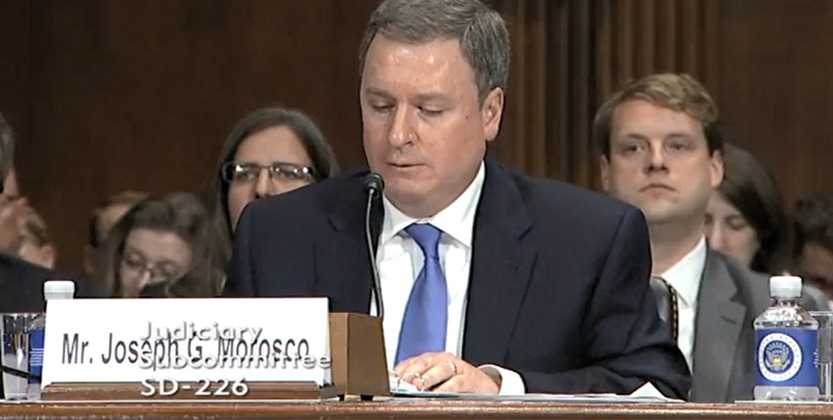 Happening now: Joseph G. Morosco, Assistant Director and National Intelligence Manager for @NCSCgov, testifies before @senjudiciary on Border Security and Immigration. Watch the hearing here: go.usa.gov/xQA5p