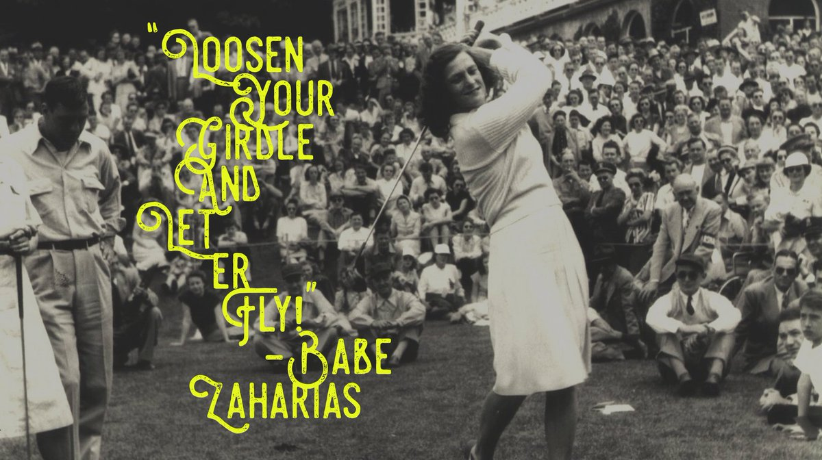 One of the all-time greatest quotes from Babe Didrikson Zaharias. #wednesdaywisdom #wcw