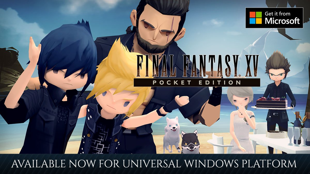 Our pocket-sized Chocobros are now on Windows! #FFXV POCKET EDITION is now available on Universal Windows Platform, this means PC, laptops, and Surface Tablets! For more information: sqex.link/ffxvpocket